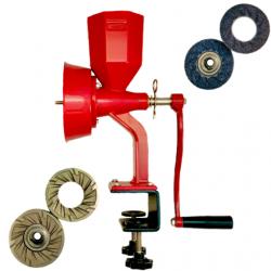 Wondermill Junior Delux Plus- Hand Grain Mill - Red
